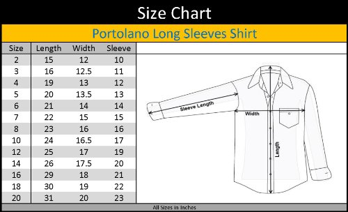 mens dress shirt size chart: Amazon com portolano boys long sleeve white textured dress shirt