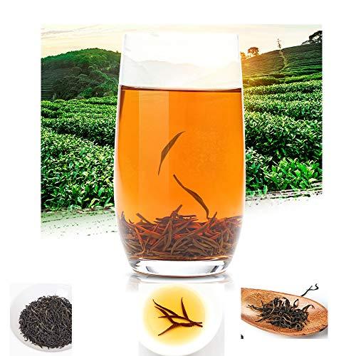 Merkuyom & (LiuWan Tea Farm Plantation) High Mountain Black Tea, Top A-Grade Premium LuShan Cloud-Fog Yun Wu Tea Chinese Famous Tea (100g)