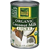 Native Forest Organic Light Coconut Milk, 13.5 Ounce (Pack of 36)