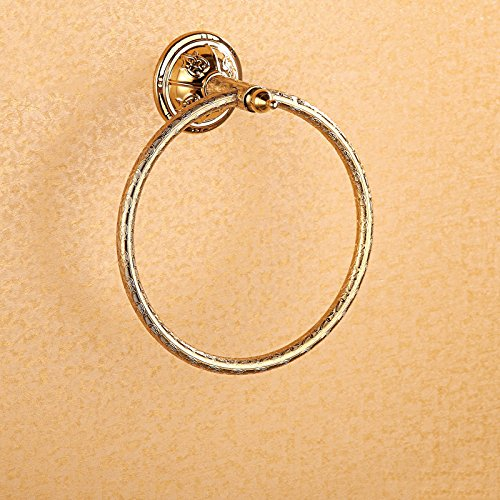 Cloud Power Wall-mounted Royal Style Towel Rings Brass Towel Rings Holder With Towel Rings For Bathroom Titanium