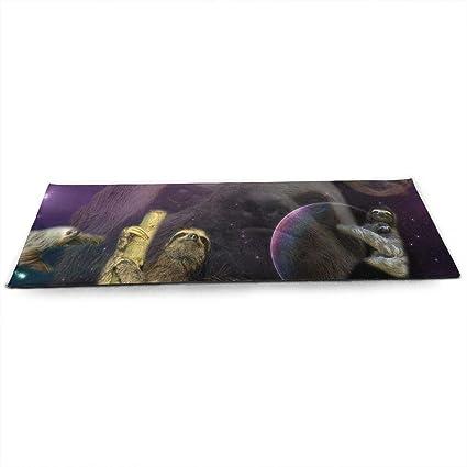Amazon.com: Unisex Fitness Yoga Mat Sloth Art Space Unique ...