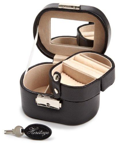 - WOLF 281402 Heritage Mini Oval Jewelry Box, Black