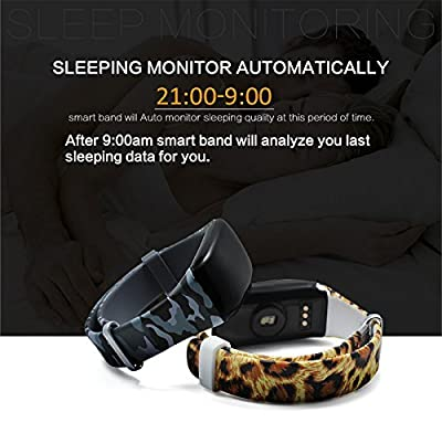 WMWB Heart Rate Monitor Smart Bracelet, OLED Touch Screen Bluetooth 4.0 Passometer Fitness Tracker for Android iOS Smartphones