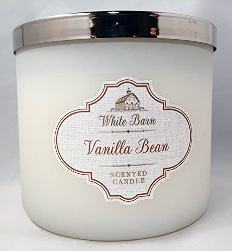Bath and Body Works White Barn Vanilla Bean 3 Wick Scented Candle (Pure White Version) 14.5 Ounces/411 Grams