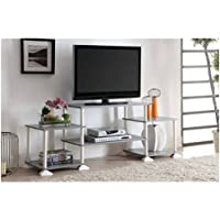 Multiple Shelves Mainstays No Tools 3-Cube Storage Entertainment Center for TVs up to 40 (Gray)
