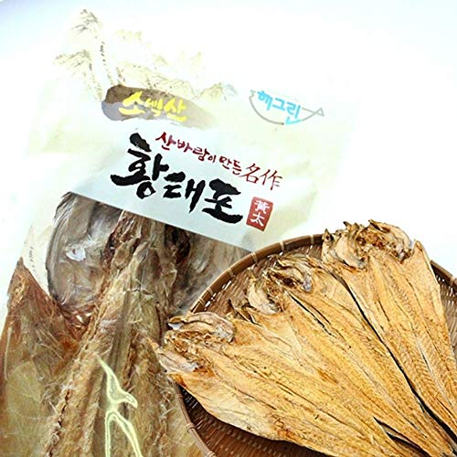 Dried Pollack Whole Size 70g x 3 count, Product of Korea by Samil Food