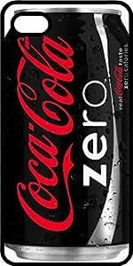 Black Coca Cola Zero Soda Can Black Plastic Case for Apple iPhone 4 or iPhone 4s