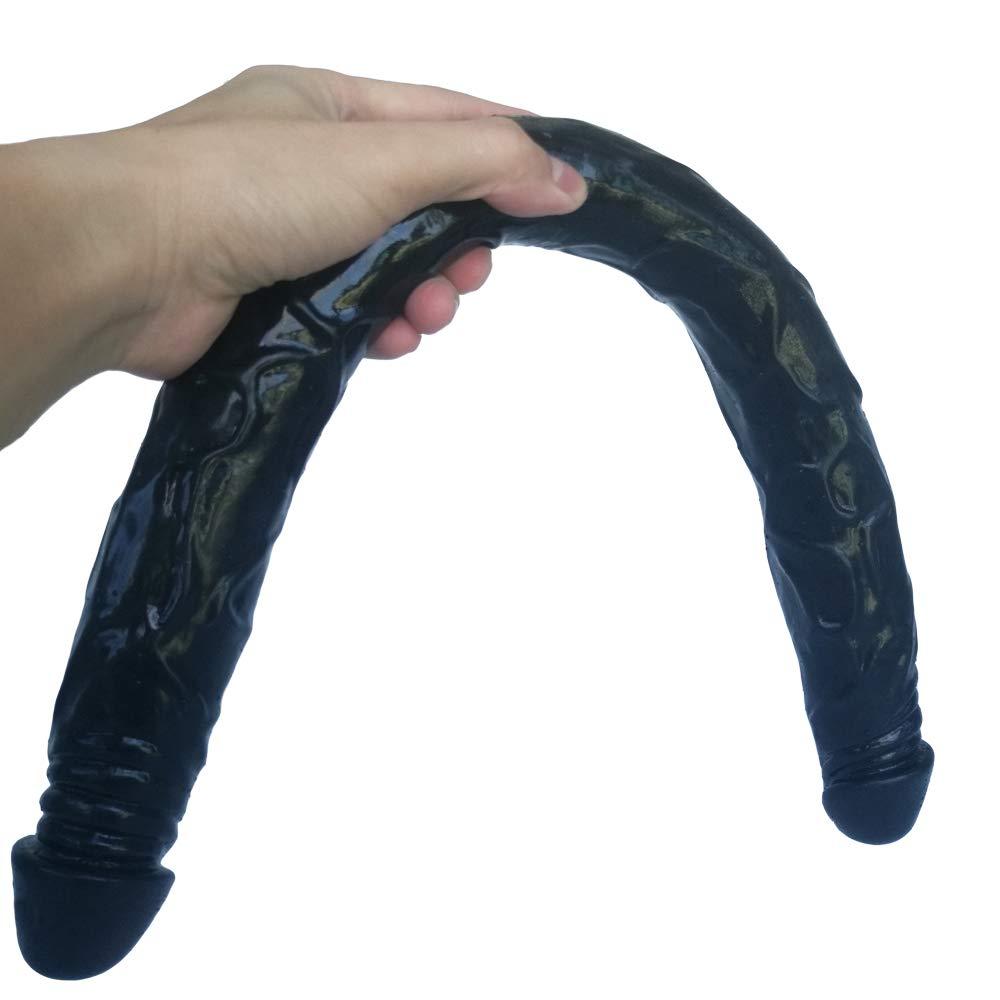 Doble Lado consolador, Realista para consolador Sexo Juguete para Realista Las Mujeres (Grande 22,4 Pulgadas),Black 543501