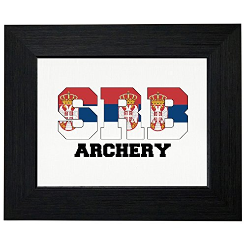 - Serbia Archery - Olympic Games - Rio - Flag Framed Print Poster Wall or Desk Mount Options