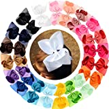 Big Large Hair Bows Girls 20 PCS 8'' Strong Metal Alligator Clips Bow Clips Hair Accessories For Women Girls Kids