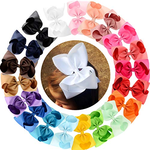 Big Large Hair Bows Girls 20 PCS 8
