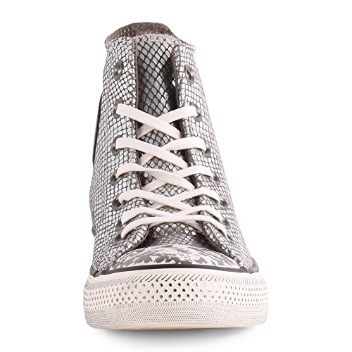 Converse All Star Hi Donna Sneaker Metallico