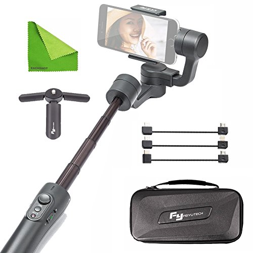 FY FEIYUTECH Feiyu Vimble 2 Stable Selfie Stick Travel Gimbal Handheld Stabilizer Built-In Extender for Smartphone Like iPhone X 8 Plus 7 6 SE Samsung Galaxy S9+ S9 S8+ S8 Note 8 S7 S6 Q2 edge Grey