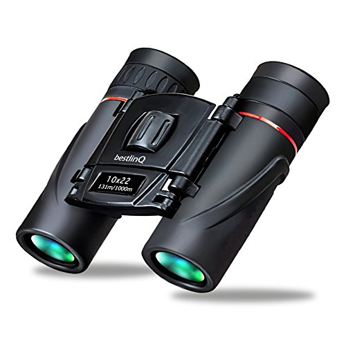 Bq Light - Binoculars Compact safari For Adults Kids Opera Glasses Japan bestlinQ Small 10x22 Lightweight Mini Pocket Folding For Concert Theater Opera Travel Hiking Bird Watching BaK4 prism Lens (0.4lb)
