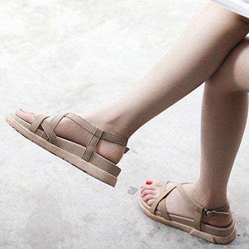 [テンカ]サンダル レディース ぺたんこ 厚底 ヒール 歩きやすい 美脚 かわいい 夏 疲れない 快適 脚長効果 きれいめ 日常 お洒落 通勤 通学 お出かけ デート