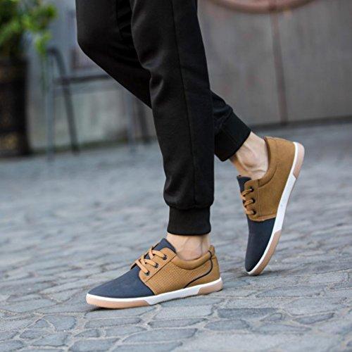 LHWY Herren Freizeit Schuhe Herbst Männer Müßiggänger Erwachsene Mokassins Männliche Schuhe Blau
