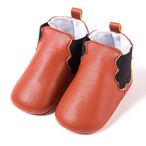 Hunpta Neugeborene Kleinkind Baby Säuglinge Mädchen Junge Wolken Weiche Anti-Rutsch Schuhe Stiefel Braun