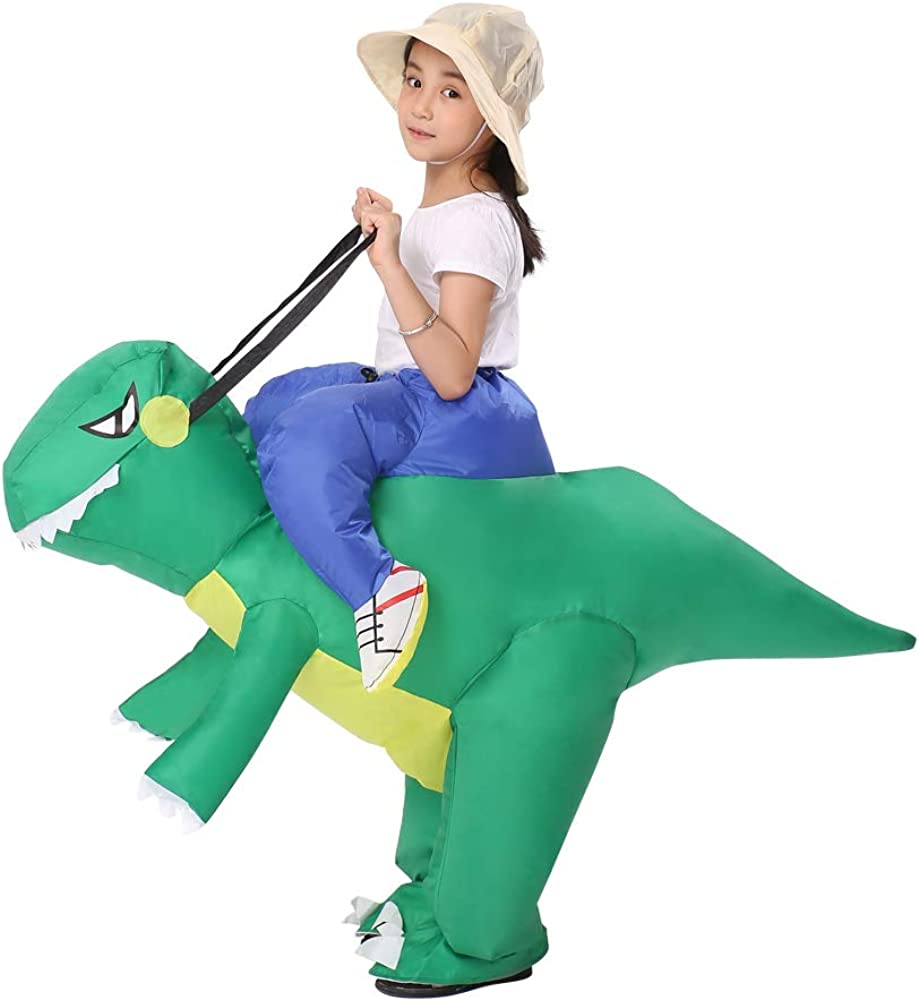Decalare Inflatable Dinosaur T-REX//Bull Costumes Fancy Costume Halloween Party Cosplay Fantasy Blow up Costume Adult//Kids