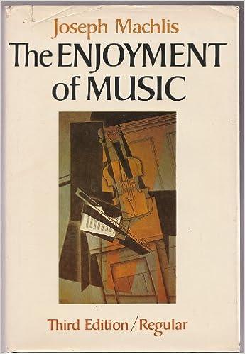 The Enjoyment Of Music Third Edition Joseph Machlis Amazon