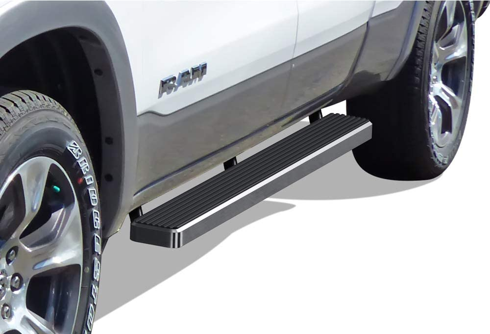 APS iBoard Running Boards (Nerf Bars Side Steps Step Bars) Compatible with 2019-2020 Dodge Ram 1500 Quad Cab Pickup 4-Door for New Body Style Only (Will Not Fit 2018 Model) (Silver 5 inches)