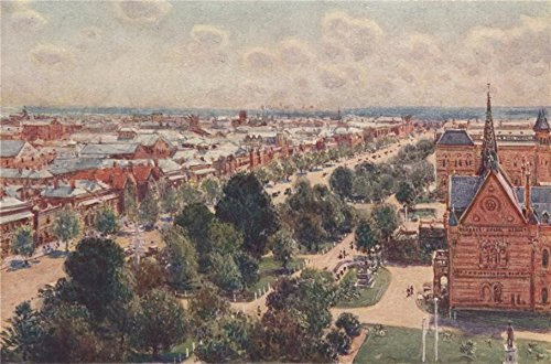 (ADELAIDE. 'The Garden Streets of Adelaide' by Percy Spence. Australia - 1910 - old print - antique print - vintage print - Australia art prints)