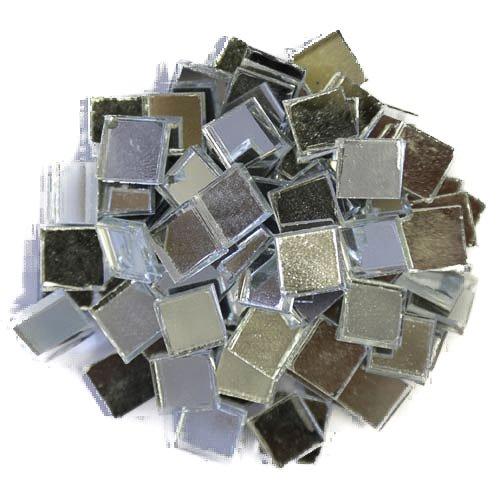 Espejo de cristal Azulejos, Plata, 1 cm x 1 cm x 3 mm 200 gramos aprox. 280 azulejos 1cm x 1cm x 3mm 200gramos aprox. 280azulejos Mosaic Supplies