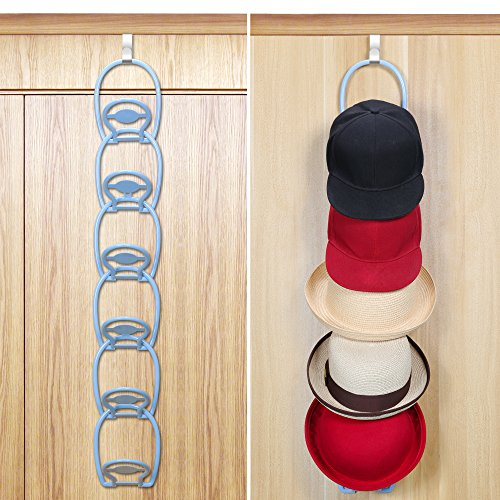 FaayFian Door& Wall Mounted Baseball Cap Hat Racks Holder(Hold 3KG), Bag & Cap Rack Storage for Closet, Holder Organizer for Scarf, Towel, Purse, 6 Packs (Baseball Cap Racks For Closets)