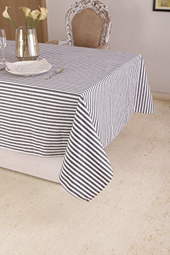 able Cloth (60 x 120 Inches), Black & White Stripe - Perfect For Spring, Summer, Holidays - Christmas And For Everyday Use ()