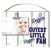 KH Sports Fan 10 x8  Los Angeles Dodgers Clip It Weathered Baby Logo Photo Frame