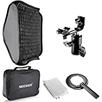 Neewer 24x24/60x60cm Honeycomb Grid Flash Softbox Diffuser with L-type Bracket and Bag for Nikon SB-600,SB-800,SB-900,SB-910,Canon 380EX,430EXII,550EX,580EX II,600EX-RT,Neewer TT560 Speedlite