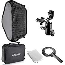 "Neewer 24""x24""/60x60cm Honeycomb Grid Flash Softbox Diffuser with L-type Bracket and Bag for Nikon SB-600,SB-800,SB-900,SB-910,Canon 380EX,430EXII,550EX,580EX II,600EX-RT,Neewer TT560 Speedlite"