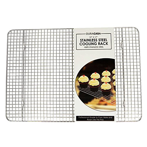 Baking Rack - Cooling Rack - Stainless Steel 304 Grade Roasting Rack - Heavy Duty Oven Safe, Commercial Quality