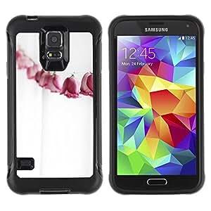 "Pulsar iFace Series Tpu silicona Carcasa Funda Case para Samsung Galaxy S5 V , Paper Roses Línea Metáfora Significado Profundo"""