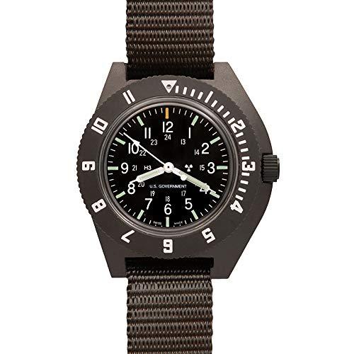 (Marathon Watch WW194001SG Navigator Swiss Made Military Issue Pilot's Watch with Tritium. ETA F06 Movement (41mm, Sage Green))