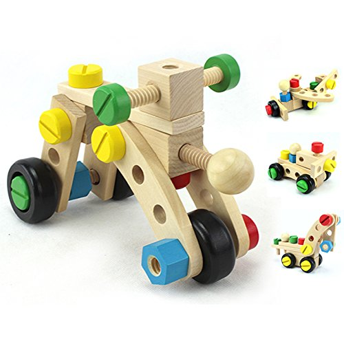 KINGSUNG Children's Day Gift Nut Combination Disassembly Engineering Car Boy Puzzle 4-6 Years Old Assembly Removable Screw Vehicle