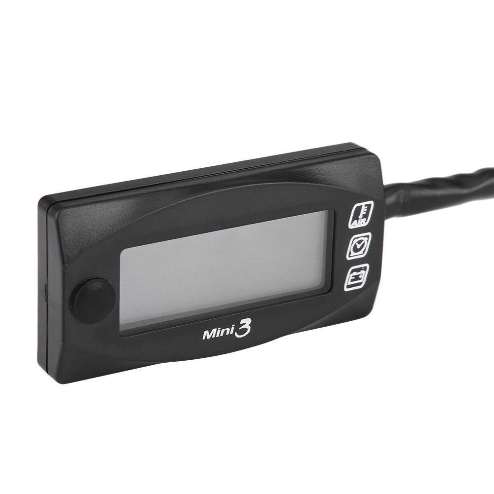 Mini 3in1 LED Anzeige Motorrad Lufttemperatur Zeit Uhr Voltmeter Spannungs KFZ C
