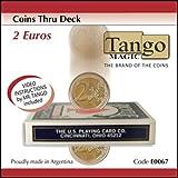 Coins Thru Deck 2 Euro by Tango