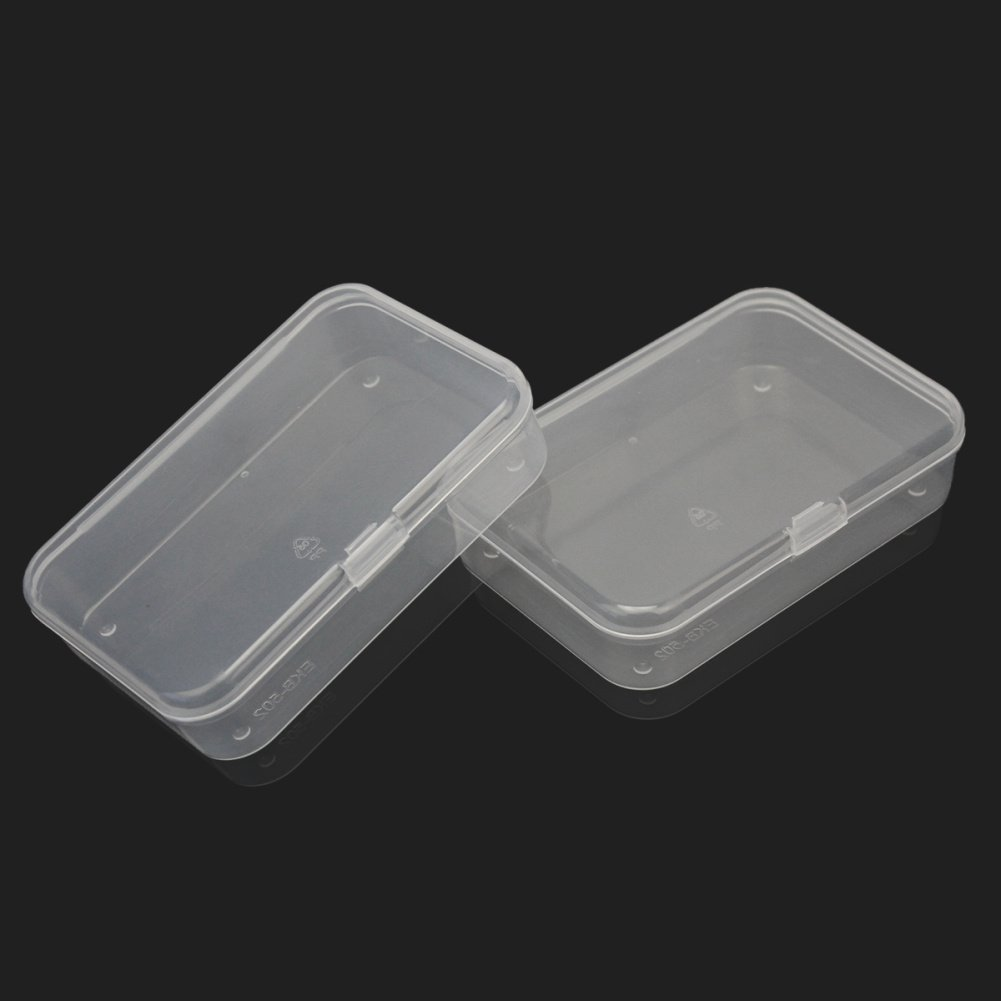 Amazon.com: 2Pcs Plastic Transparent Clear Storage Box Collection Container  Case With Lid: Home U0026 Kitchen