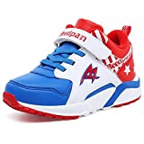 U-MAC Boys Damping Tennis Sneakers Breathable Vercro Anti-Slip Running Shoes (Little Kid/Big Kid)