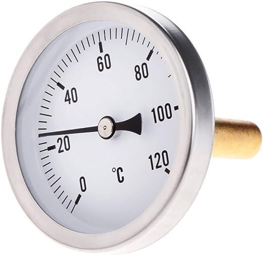 Besttse Termometro Horizontal 63 Mm Indicador De Temperatura De Aluminio Amazon Es Hogar Non inquina, non si rompe e il display viene letto con grande facilità. besttse termometro horizontal 63 mm indicador de temperatura de aluminio