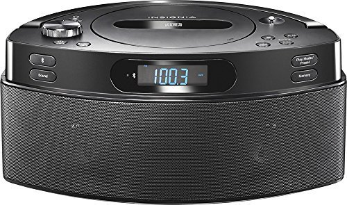 (Insignia - CD Boombox with AM/FM Tuner - Black with Bluetooth)