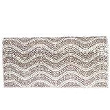 Digabi Wavy Pattern Rhinestone Purses women Crystal Evening Clutch Bags (One Size: 7.5X3.5X2 IN, Silver)