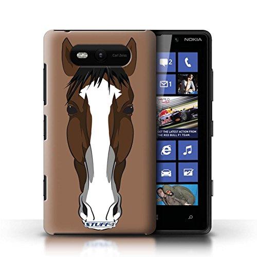 Etui / Coque pour Nokia Lumia 820 / Cheval conception / Collection de Museaux