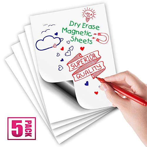 Magnetic Dry Erase Sheets | White Blank 12