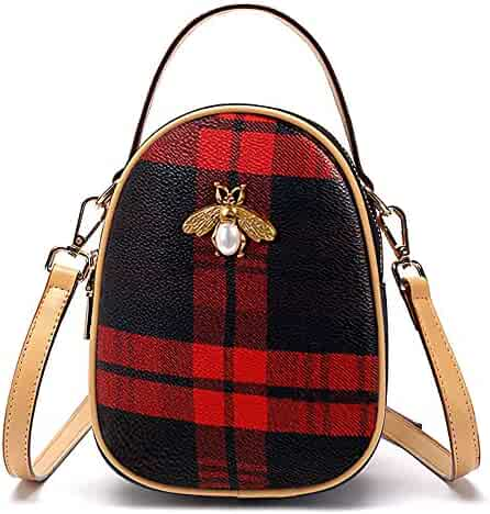 KEAKIA Pink Stripes Round Crossbody Bag Shoulder Sling Bag Handbag Purse Satchel Shoulder Bag for Kids Women