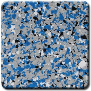Industrial Epoxy Paint - Sports Team Colors!!! Professional grade PVA decorative color chip flakes for epoxy garage floor coatings, 20 lbs (Gray, Blue, White and Black TEAM-10-1038)