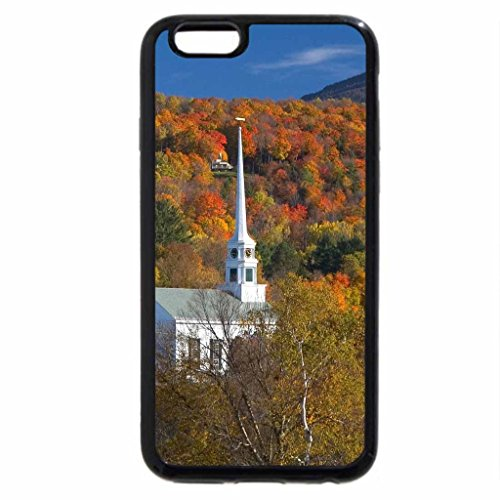 iPhone 6S / iPhone 6 Case (Black) Church of Stowe, Vermont, in Autumn