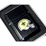 NFL New Orleans Saints Refillable Butane Torch Lighter with Tin Gift Box - Factory New - 2 1/4 Inch Height