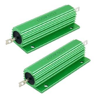 Amico 100W 5.0 Ohm Verde Carcasa de aluminio Resistores ...