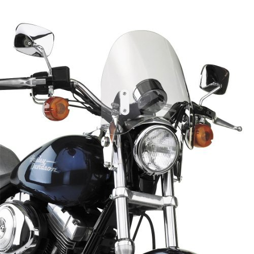 National Cycle SwitchBlade Deflector Windshield For Various Metric Motorcycles (See Specifications) - Clear - N21903